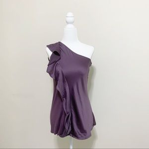 The Limited One Shoulder Ruffle Blouse Size Small